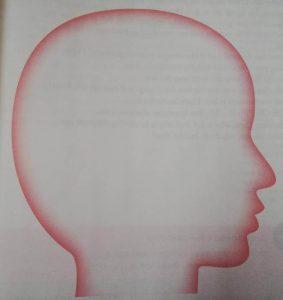 1000時間ヒアリングマラソンのPicturingのスケッチ用のイラスト。 頭の中にメモを書き込める様になっている。