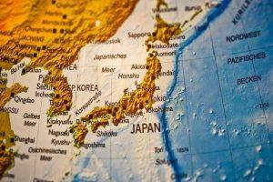 世界地図の中の日本
